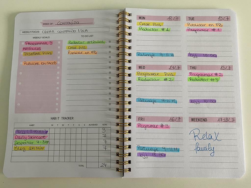 aplicación para organizar mi tiempo